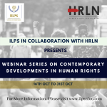 """WEBINAR SERIES ON """"CONTEMPORARY DEVELOPMENTS IN HUMAN RIGHTS"""""""