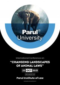 """ONE DAY INTERNATIONAL CONFERENCE ON """"CHANGING LANDSCAPES IN ANIMAL LAW"""""""