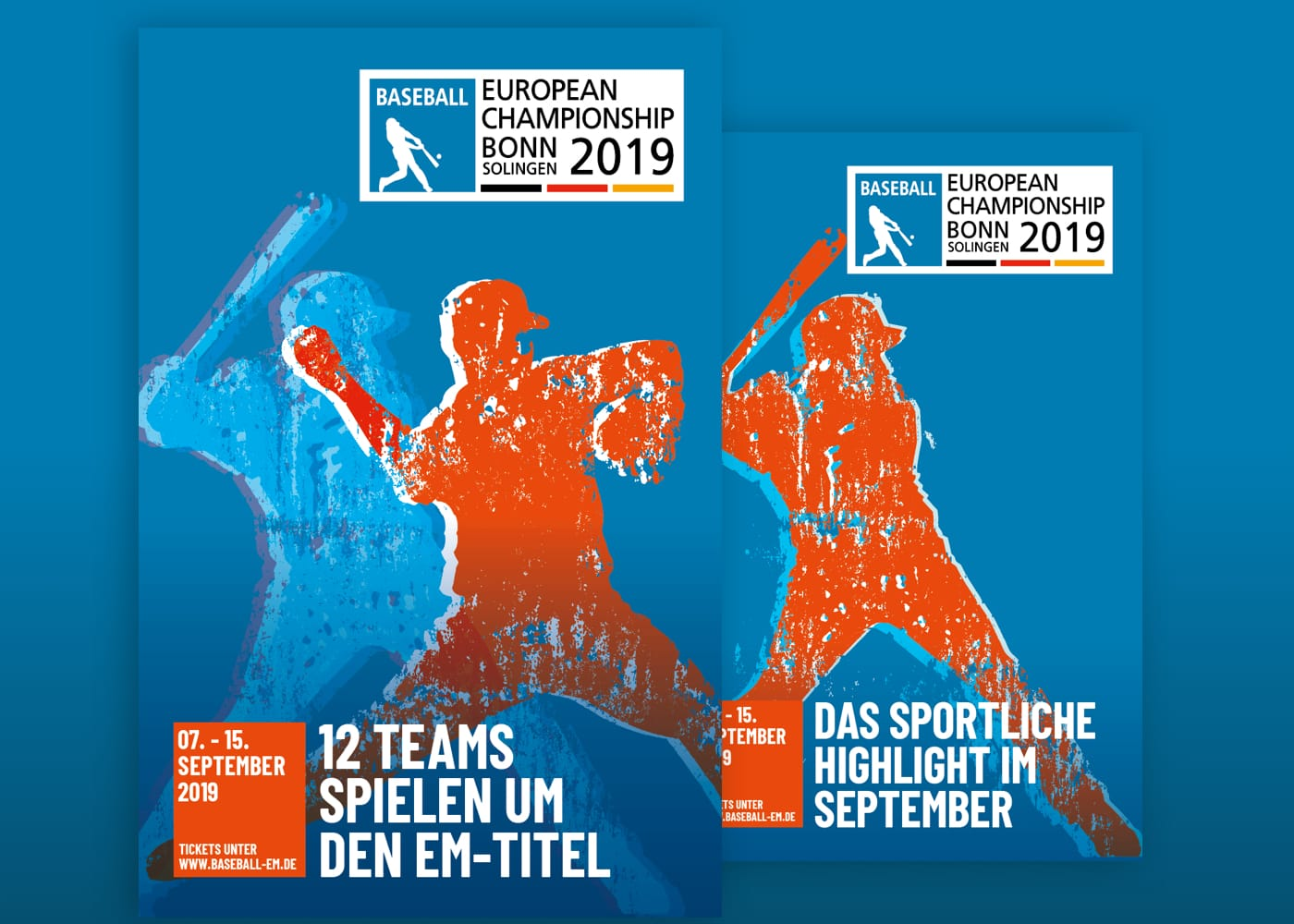 Plakate zur Baseball EM 2019