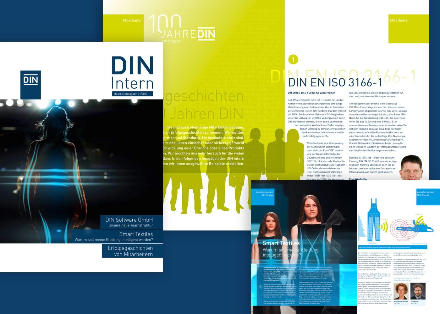 Montage des Mitarbeiterzeitung des DIN e.V.