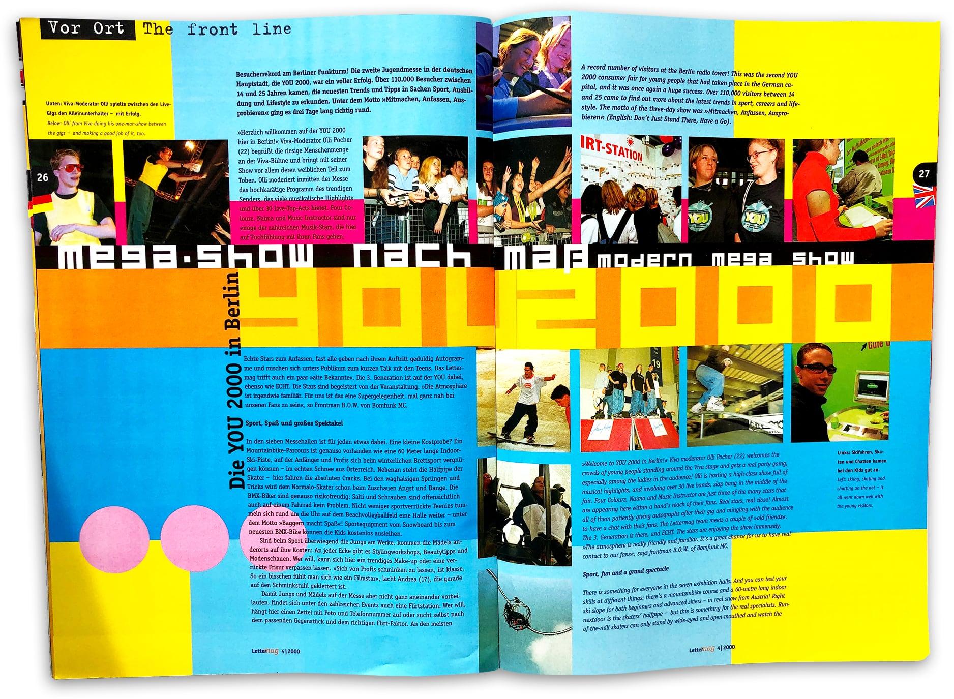 doppelseite Lettermag YOU 2000