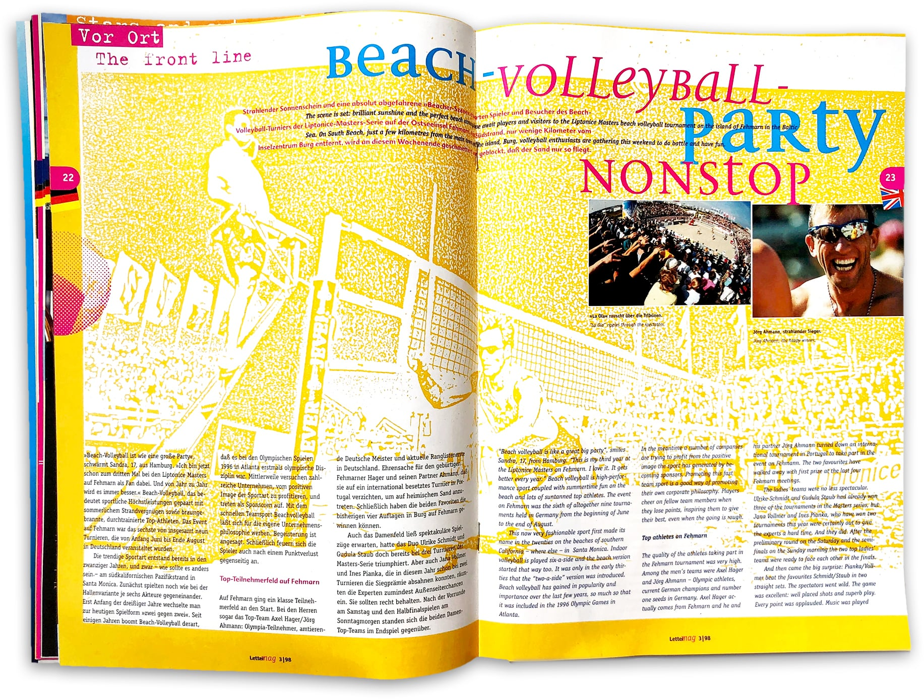 doppelseite Lettermag Beach Volleyball
