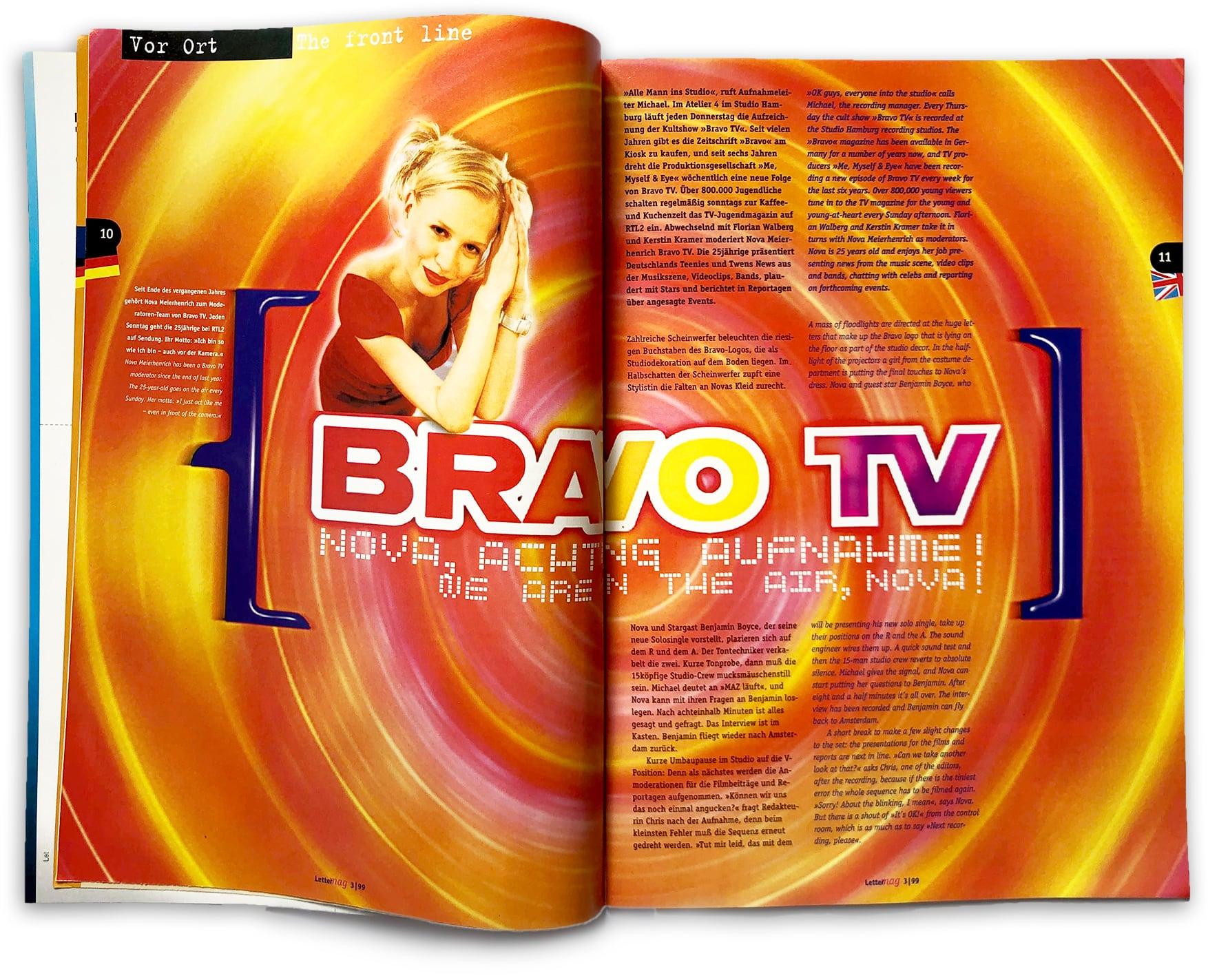 doppelseite Lettermag Interview Bravo TV