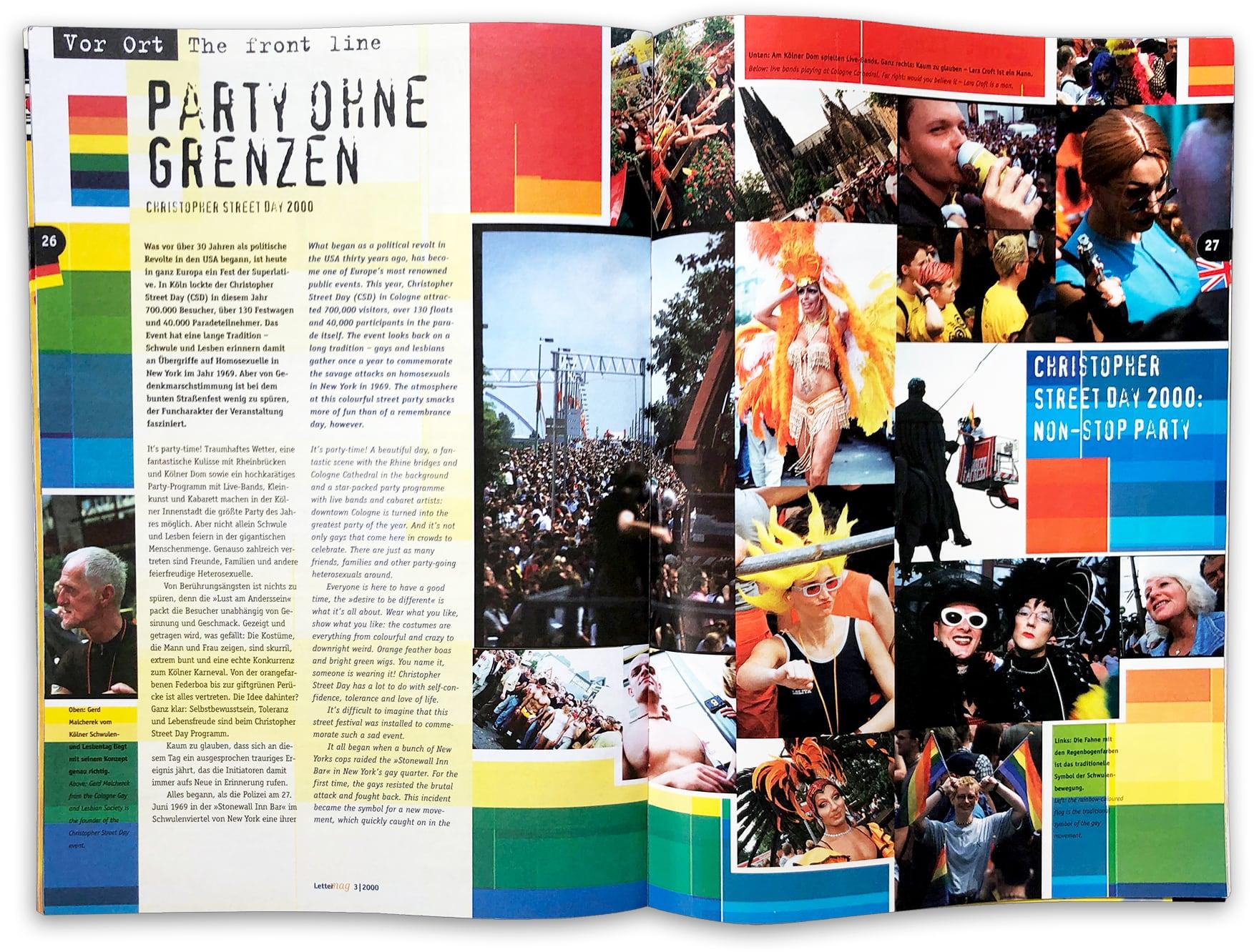 doppelseite Lettermag Christopher Street Day