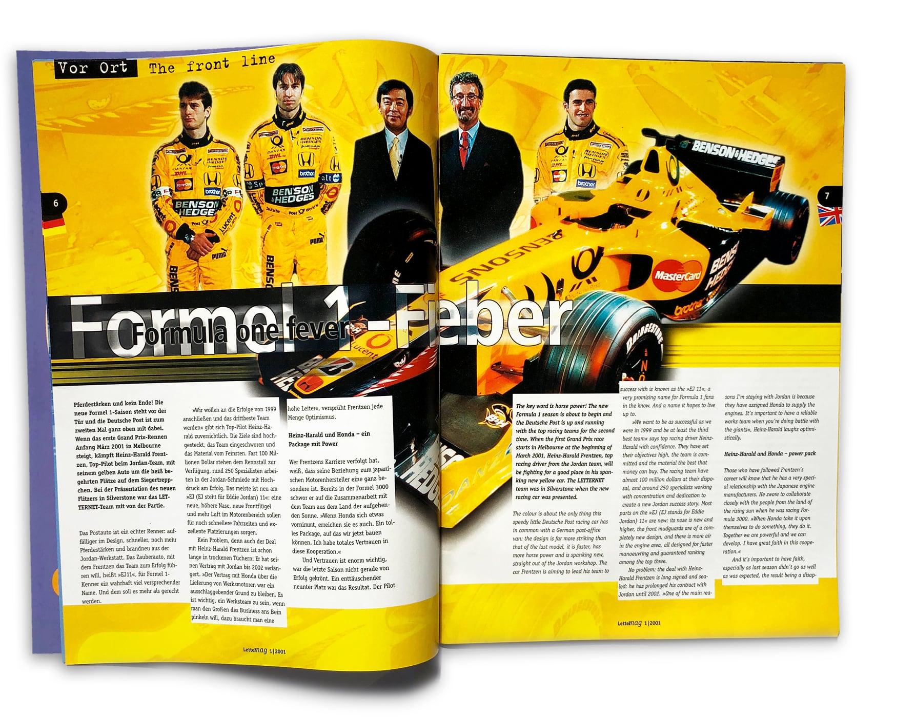 doppelseite Lettermag Formel 1