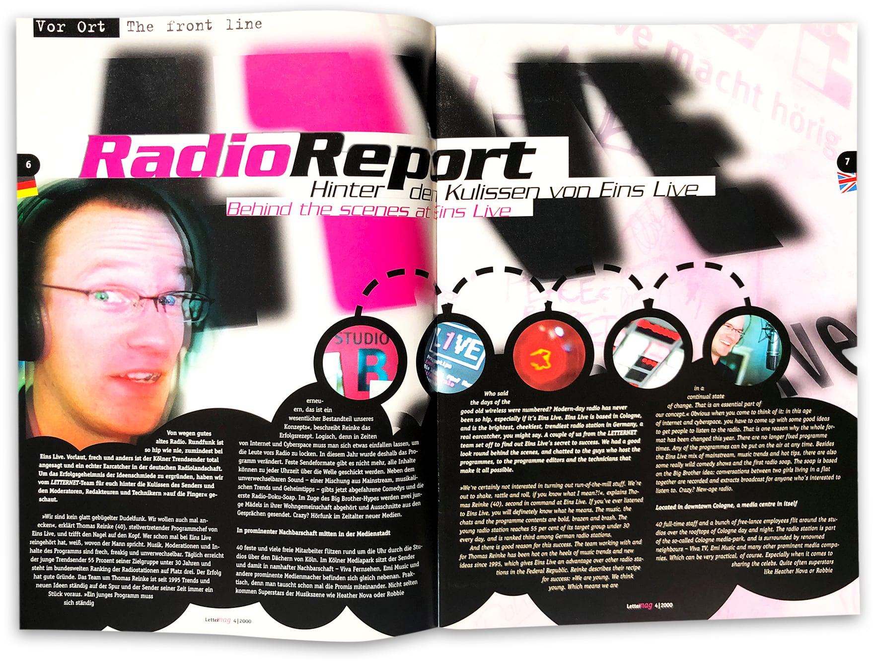 doppelseite Lettermag 1Live Radio report