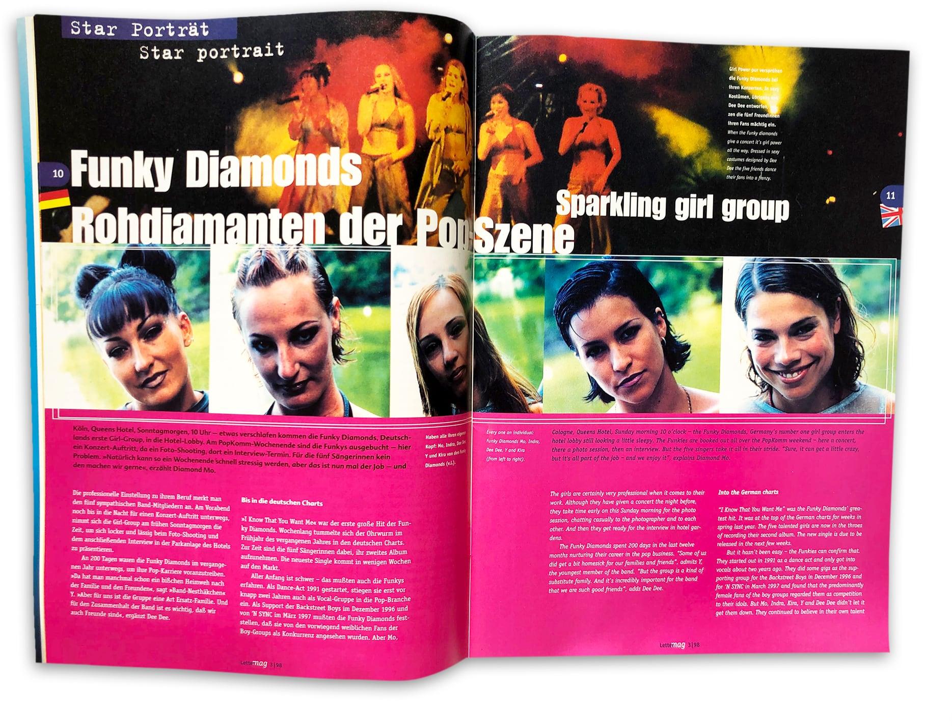doppelseite Lettermag Funky Diamonds