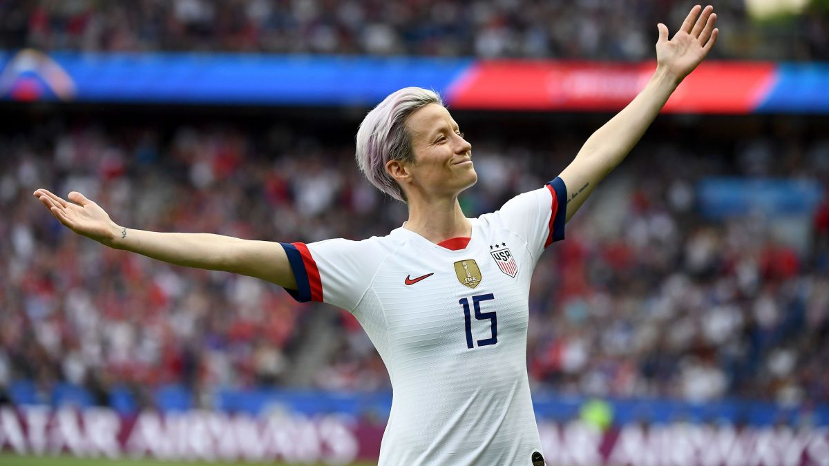 Megan Rapinoe struck an epic pose after scoring against France in the  Women's World Cup - CNN