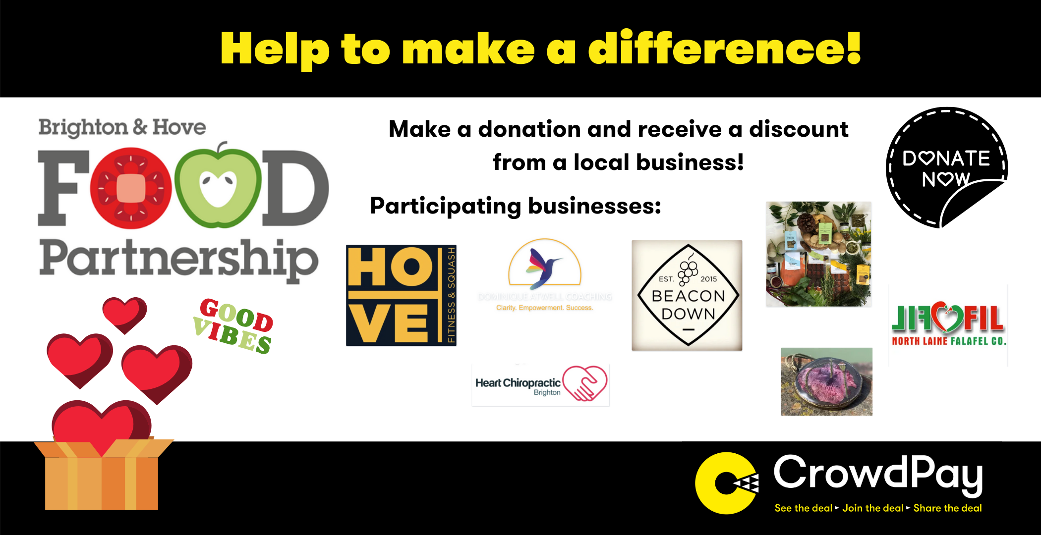 Creating a Win-Win-Win, a new way of fundraising to support Brighton and Hove Food Partnership!