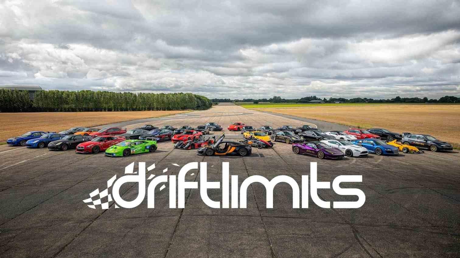 A fleet of cars on a race course
