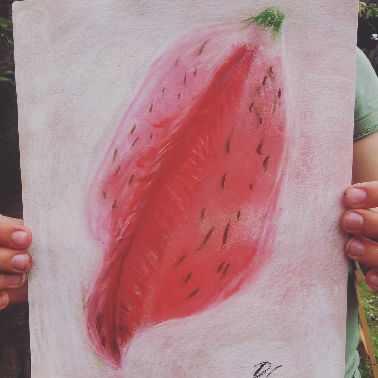Beautiful pastel work by T from my children's class #art #artclass