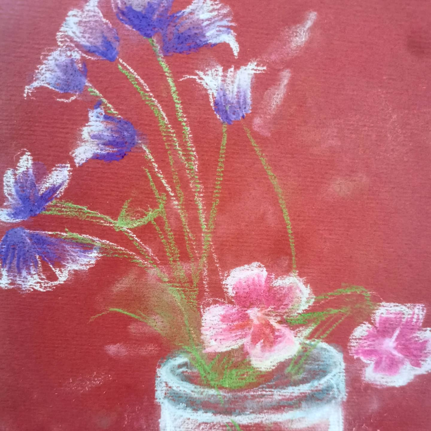Wildflower #pastel drawing from my children's class #millsmay