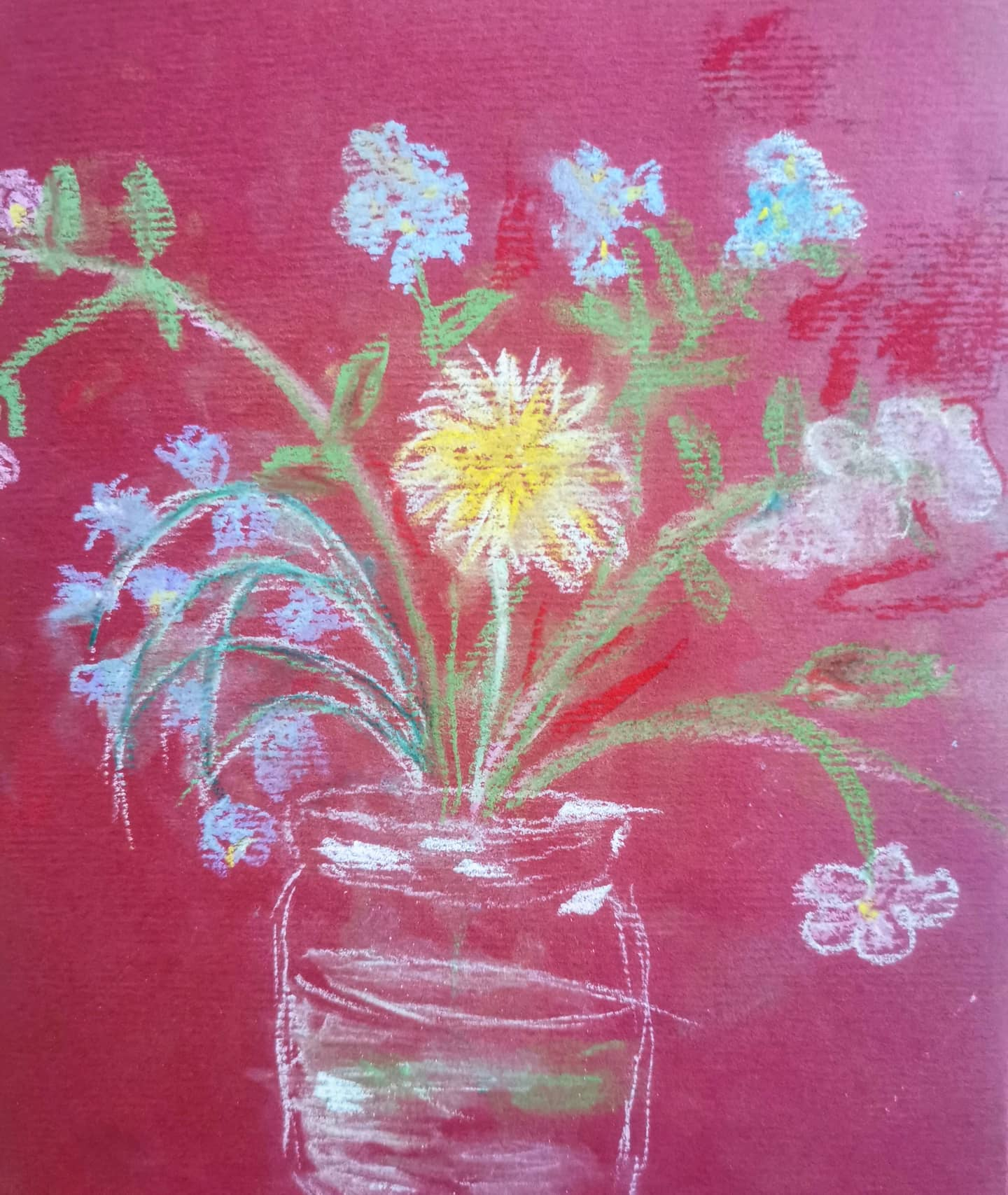 #wildflower pastel drawing from my children's class