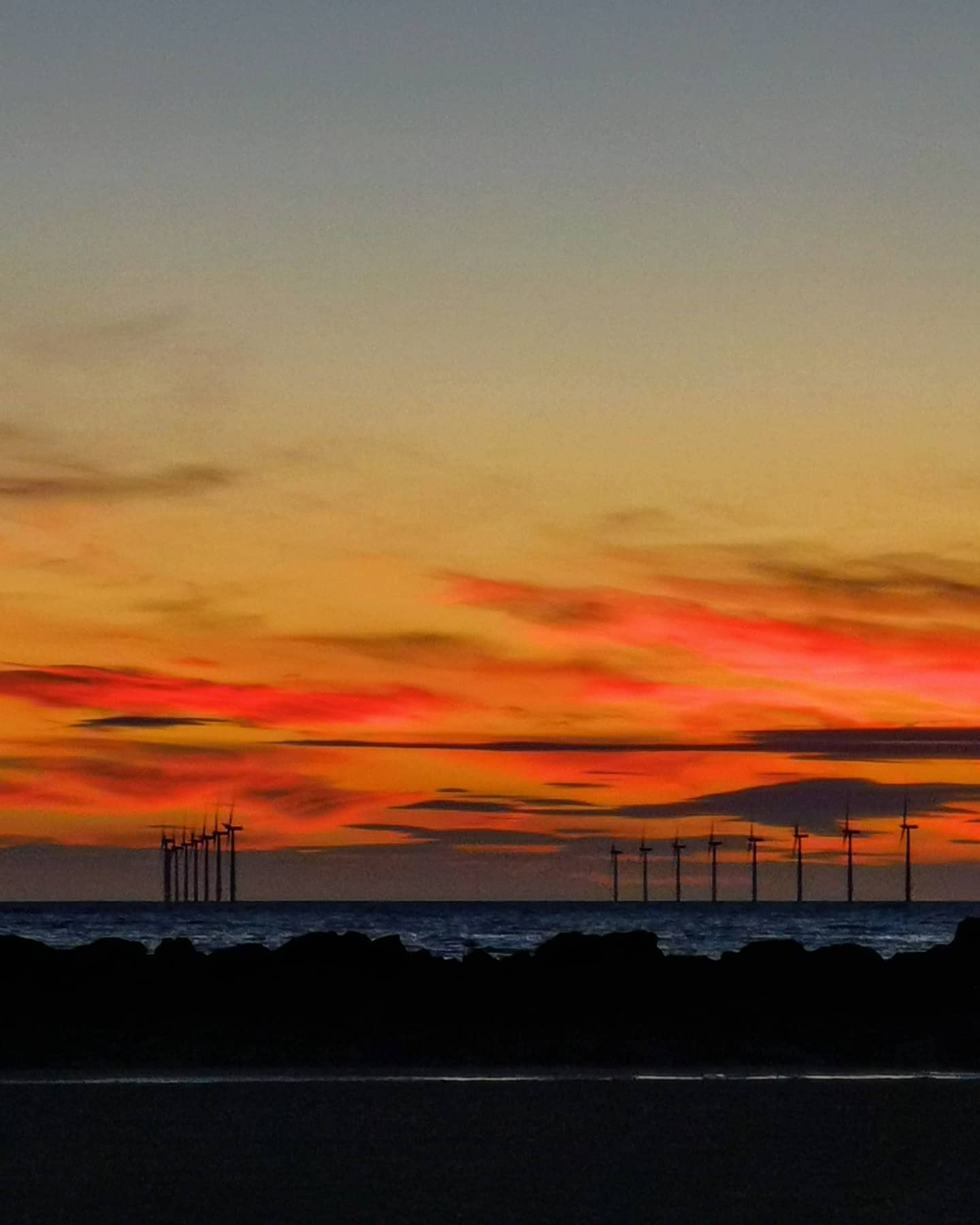 Wow, to the sunset at leasowe tonight, this captured with no editing. I had a wonderful swim