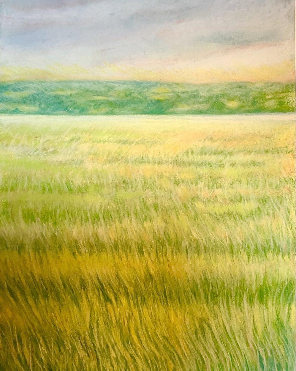 Over The Marsh, Pastels 2001  #chloeaugusta