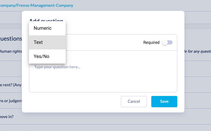 Adding custom questions box