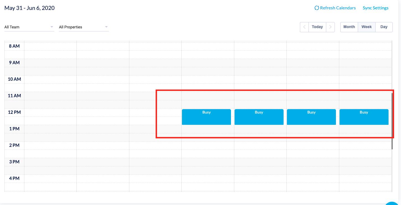 Calendar schedule setting