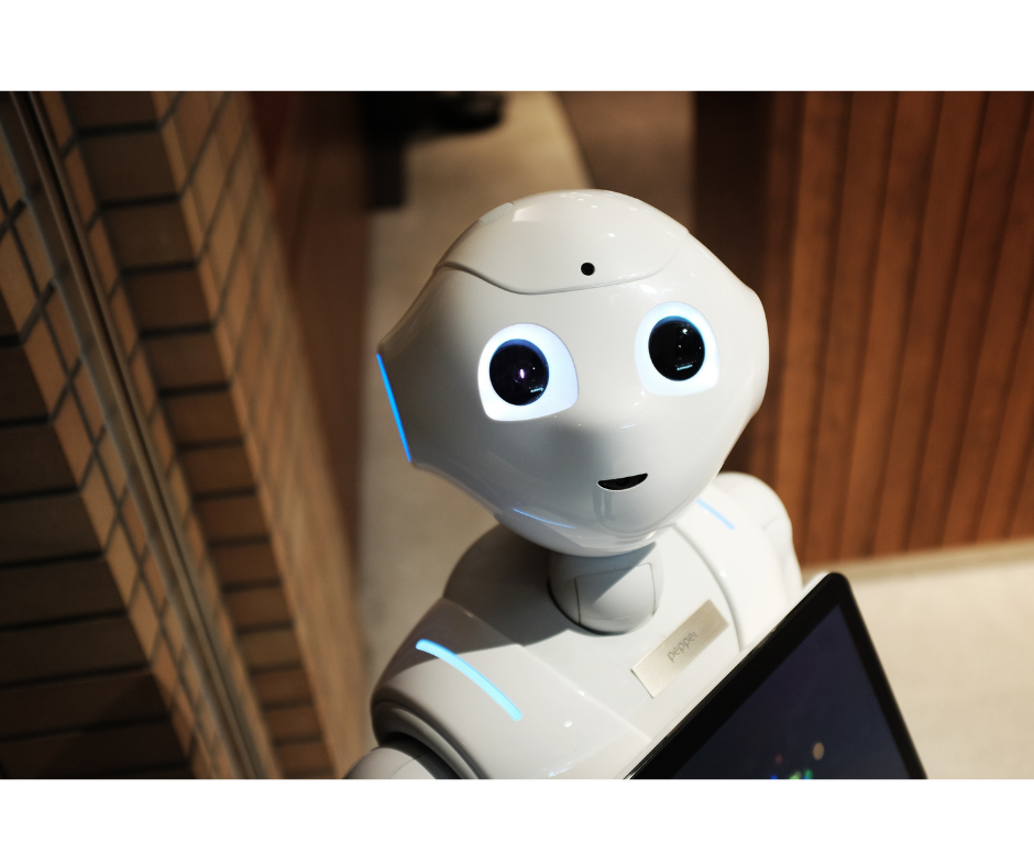 AI bot looking in the camera