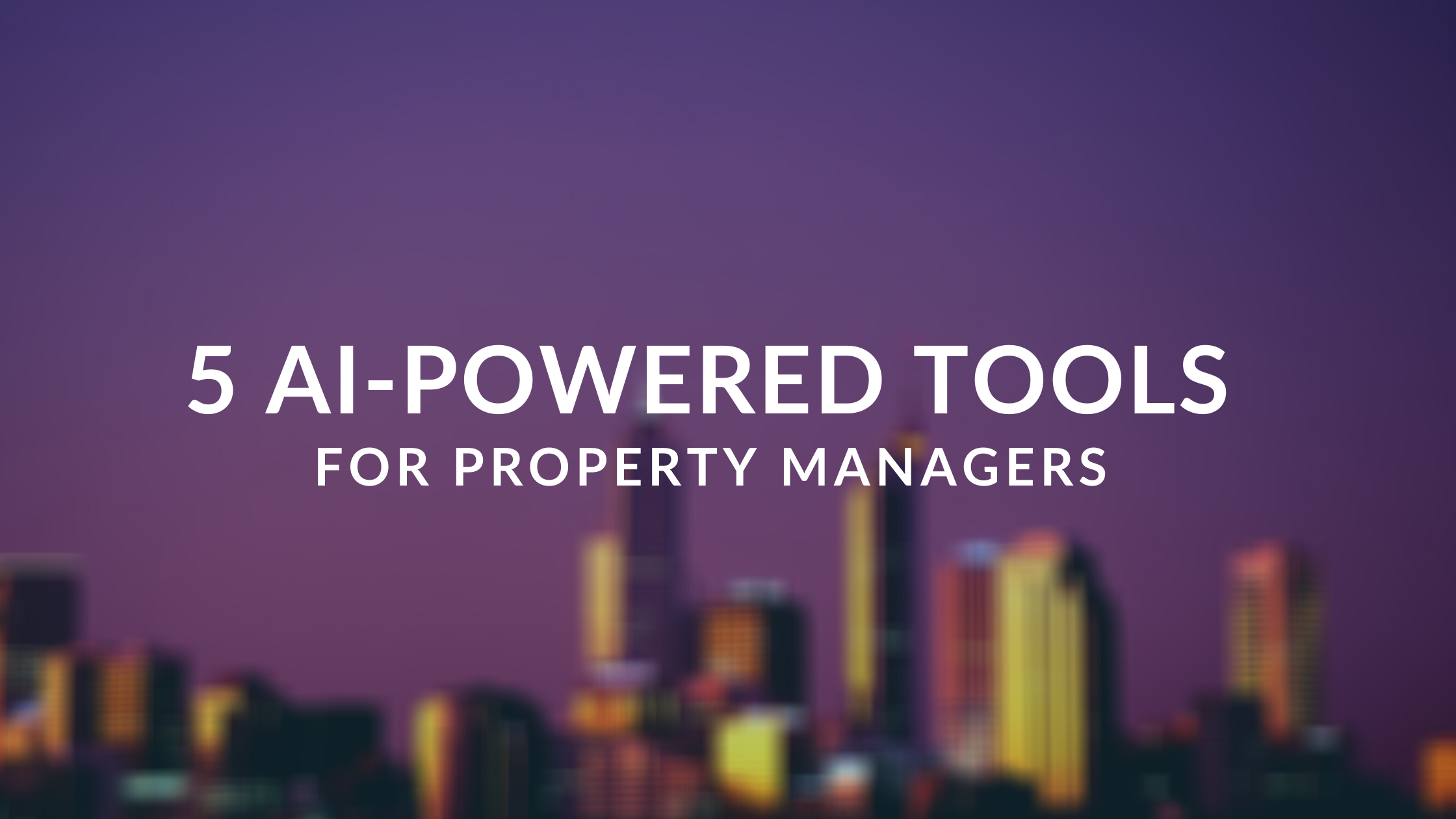 Do you know that Artificial Intelligence increases your business productivity by up to 40%? Continue reading and discover how AI-powered property management tools can increase your business' productivity.