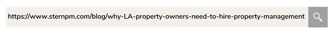Example of Property management SEO - incorrect URL structure