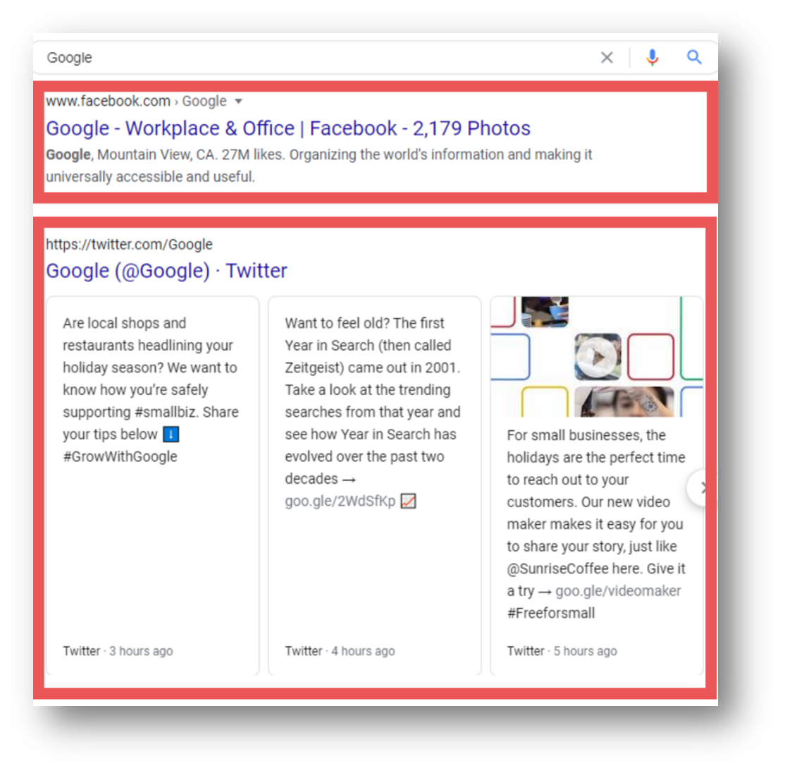 Example of Property management SEO - Social media