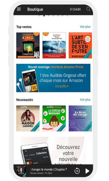 Application Livre audio Amazon