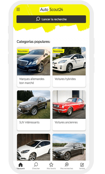 Application achat voiture occasion