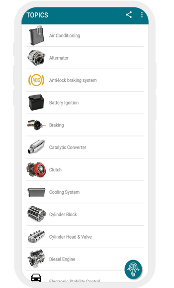 App encyclopédie voiture