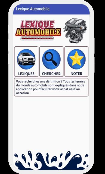 Application dictionnaire voiture