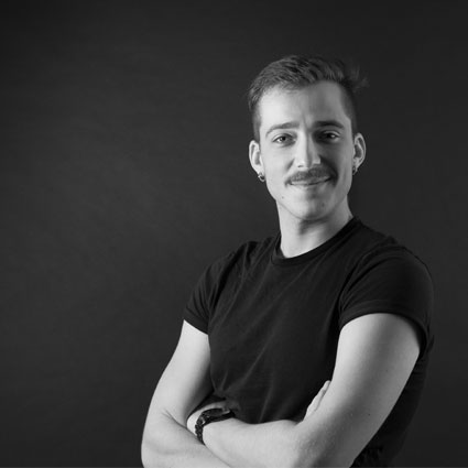 """Trained in information science, communication and semiology, Matteo took part in the BIMBIM adventure by questioning everyday life and its relationship to the arts. He was curator and organizer of the first installation of the collective """"Alchemical Activation"""" in 2019 in Berlin."""