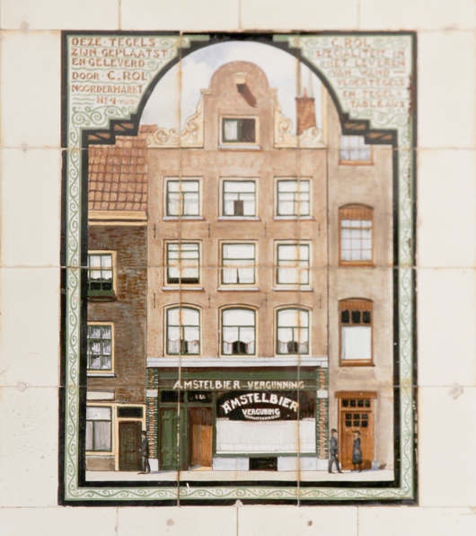 Painting of the facade of the Cafe from the past