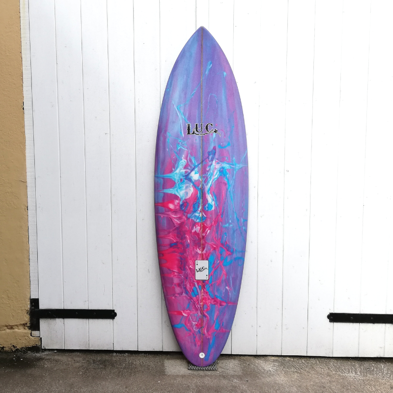 resin tint custom surfboard
