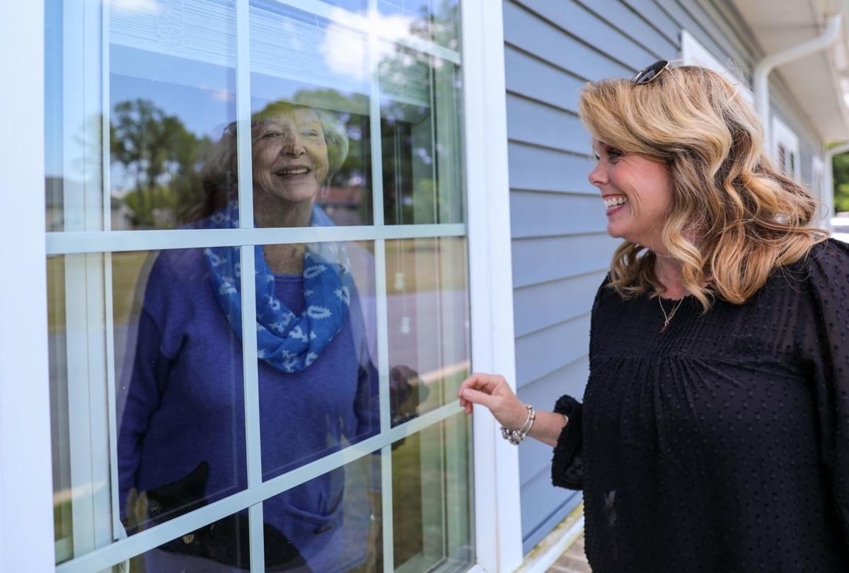 Window Visits - the new normal for visiting your loved ones at Senior Care communities.