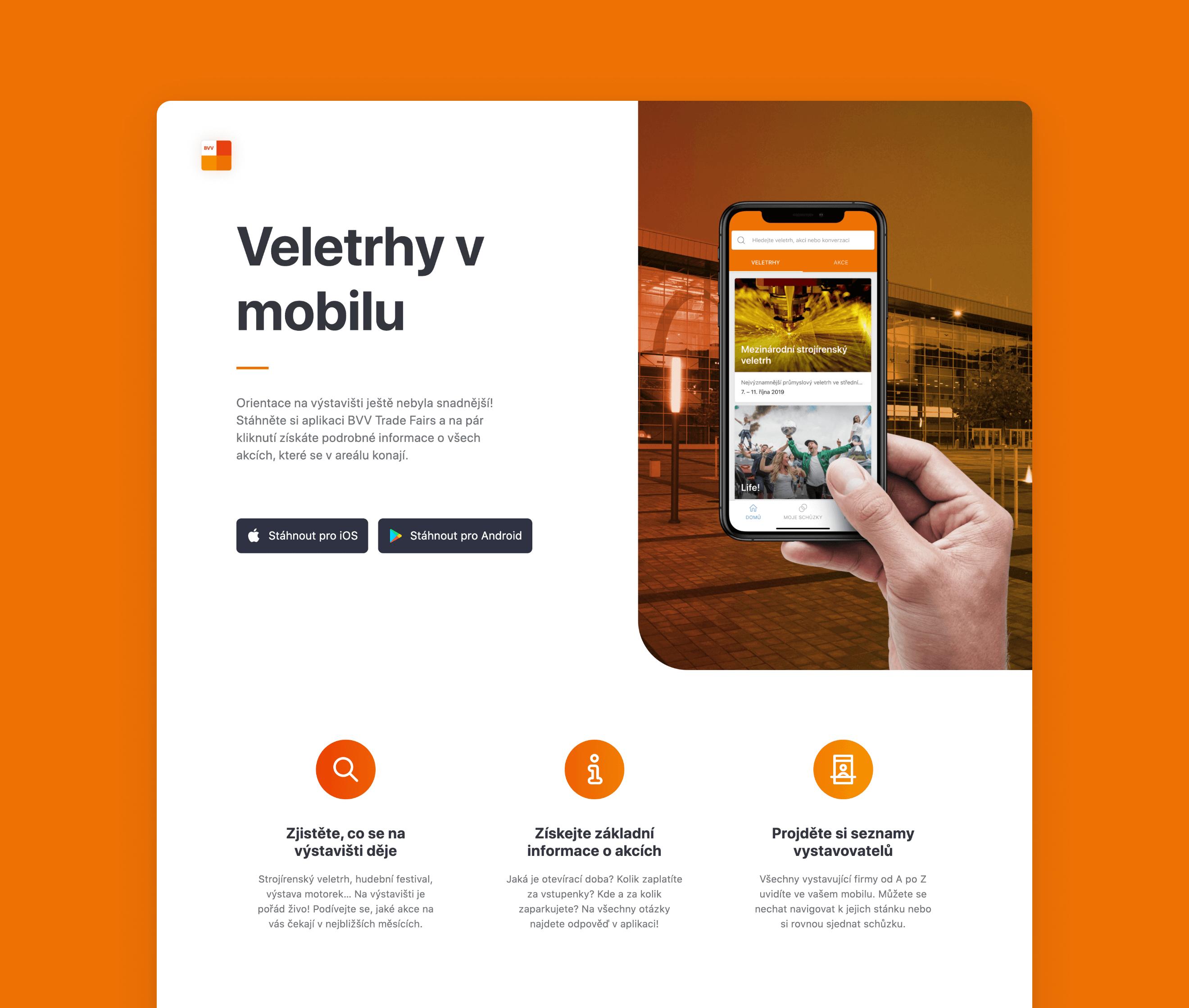 Informační stránka o aplikaci
