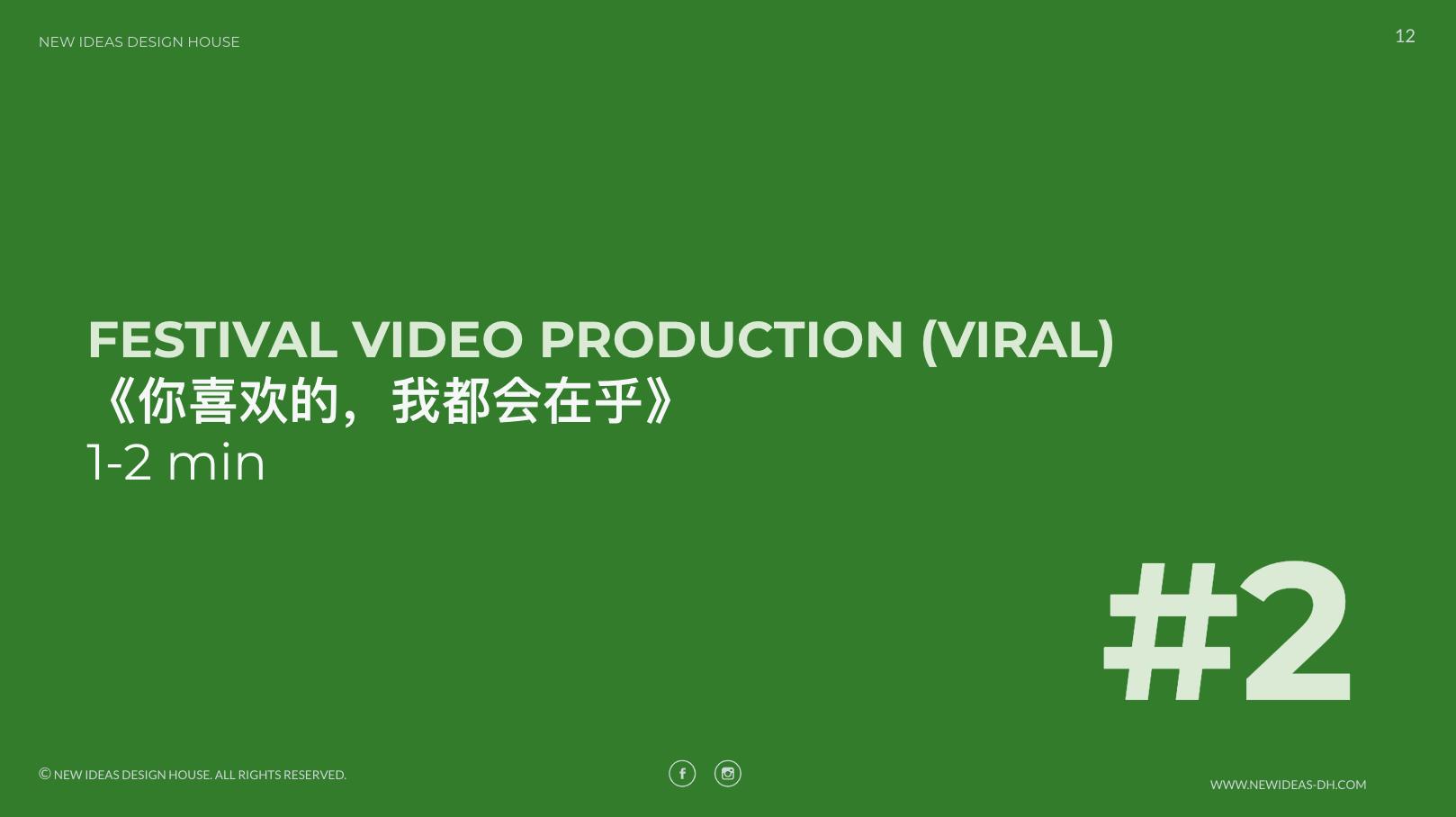 festival video production slide cover