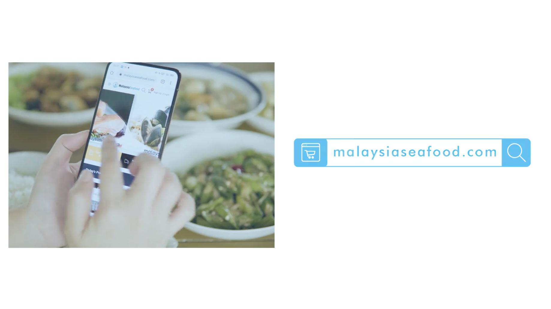 hand swiping malaysia seafood website