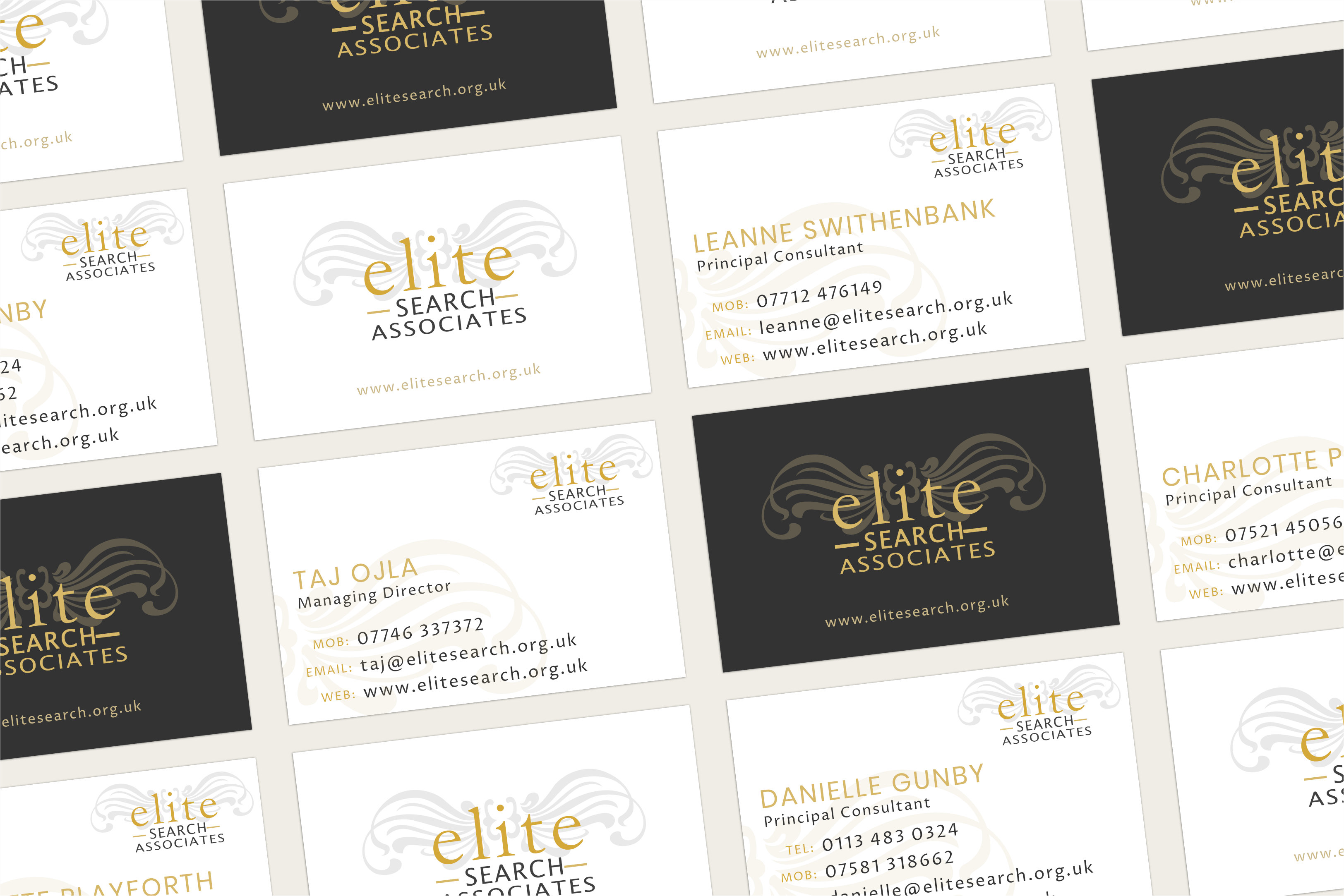 Recruitment consultant business card design