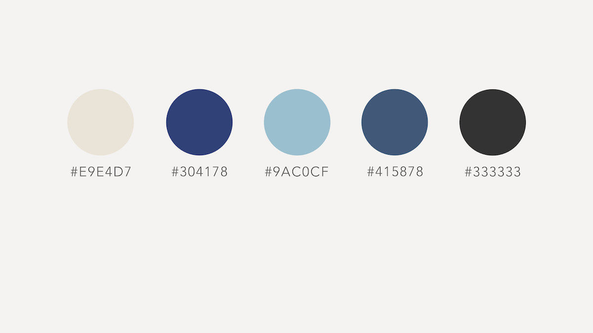 Acupuncture web design colour palette
