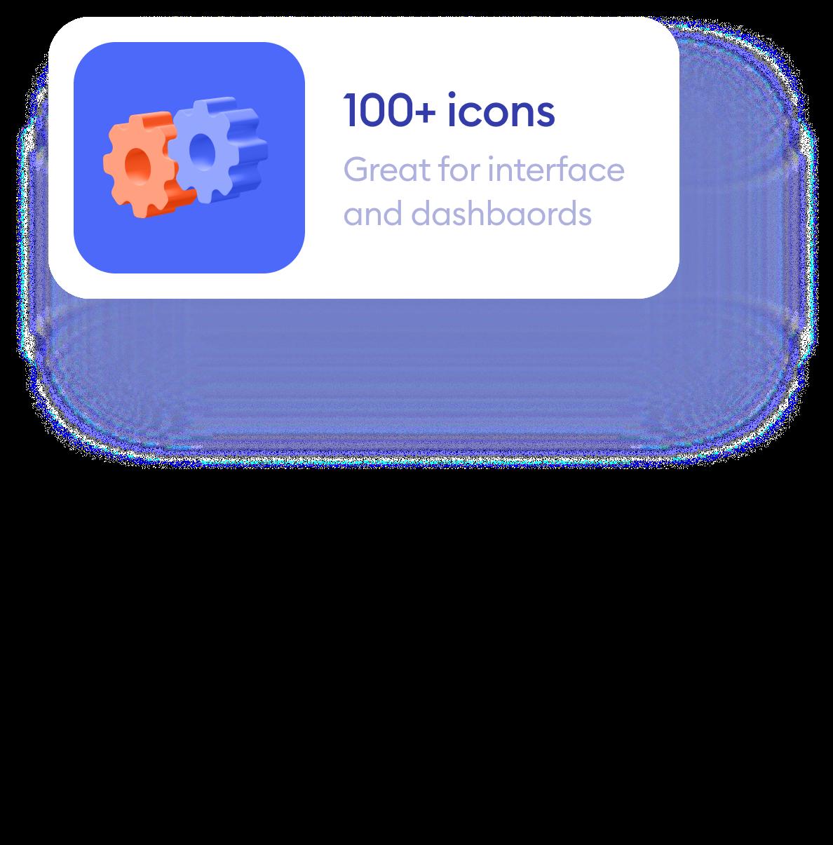 100+ icons