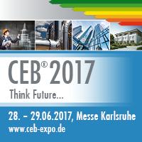 CEB 2017, Messe Karlsruhe, 28. - 29.06.2017, www.ceb-expo.de