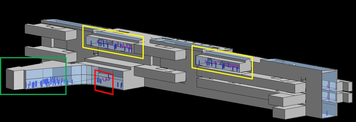 Modellierung der verglasten Atrien als Grundlage für die kombinierten Strömungs-, Strahlungs- und Temperatursimulationen