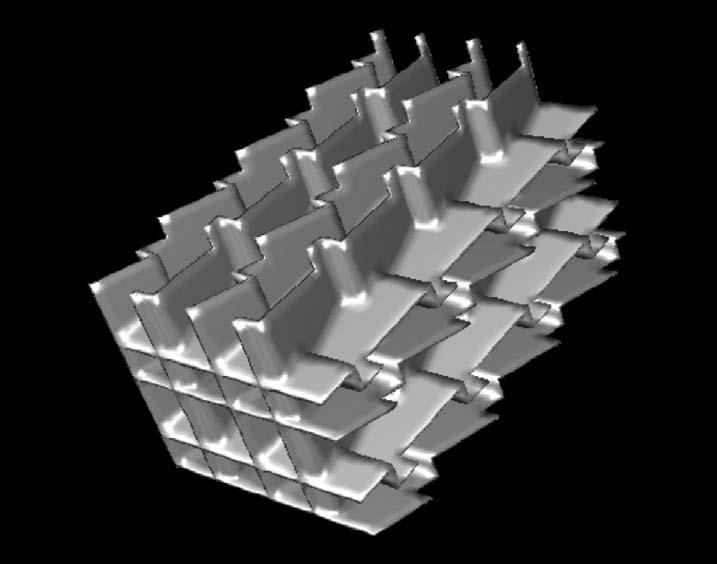 Wärmetauscher mit dreidimensionaler Strömungsbeeinflussung