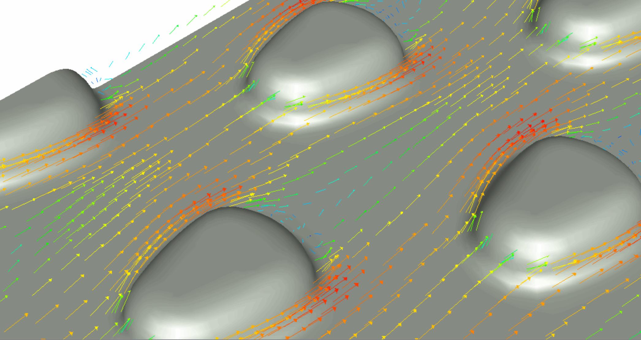 Strömungssimulation: Strukturierung der Absorberschicht für optimale Strömungsleitung