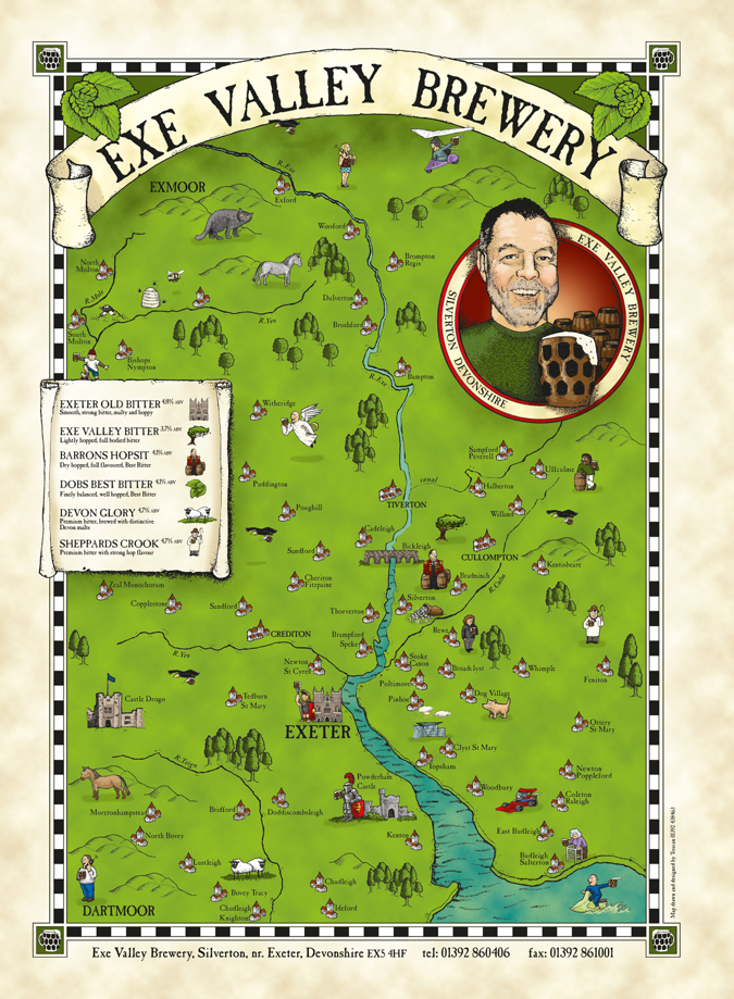 Exe Valley Brewery area map