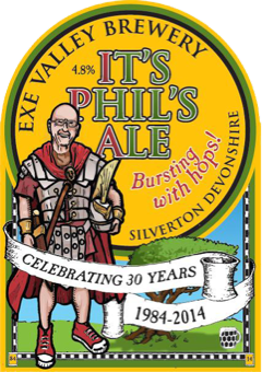 It's Phil's Ale pump clip illustration