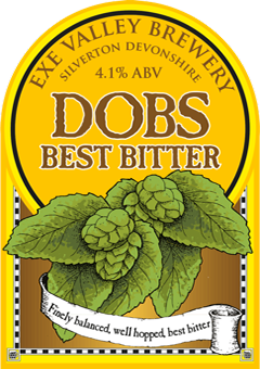 Dob's Best Bitter pump clip illustration