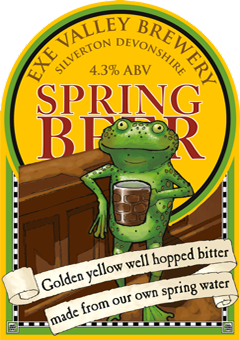 Spring Beer pump clip illustration