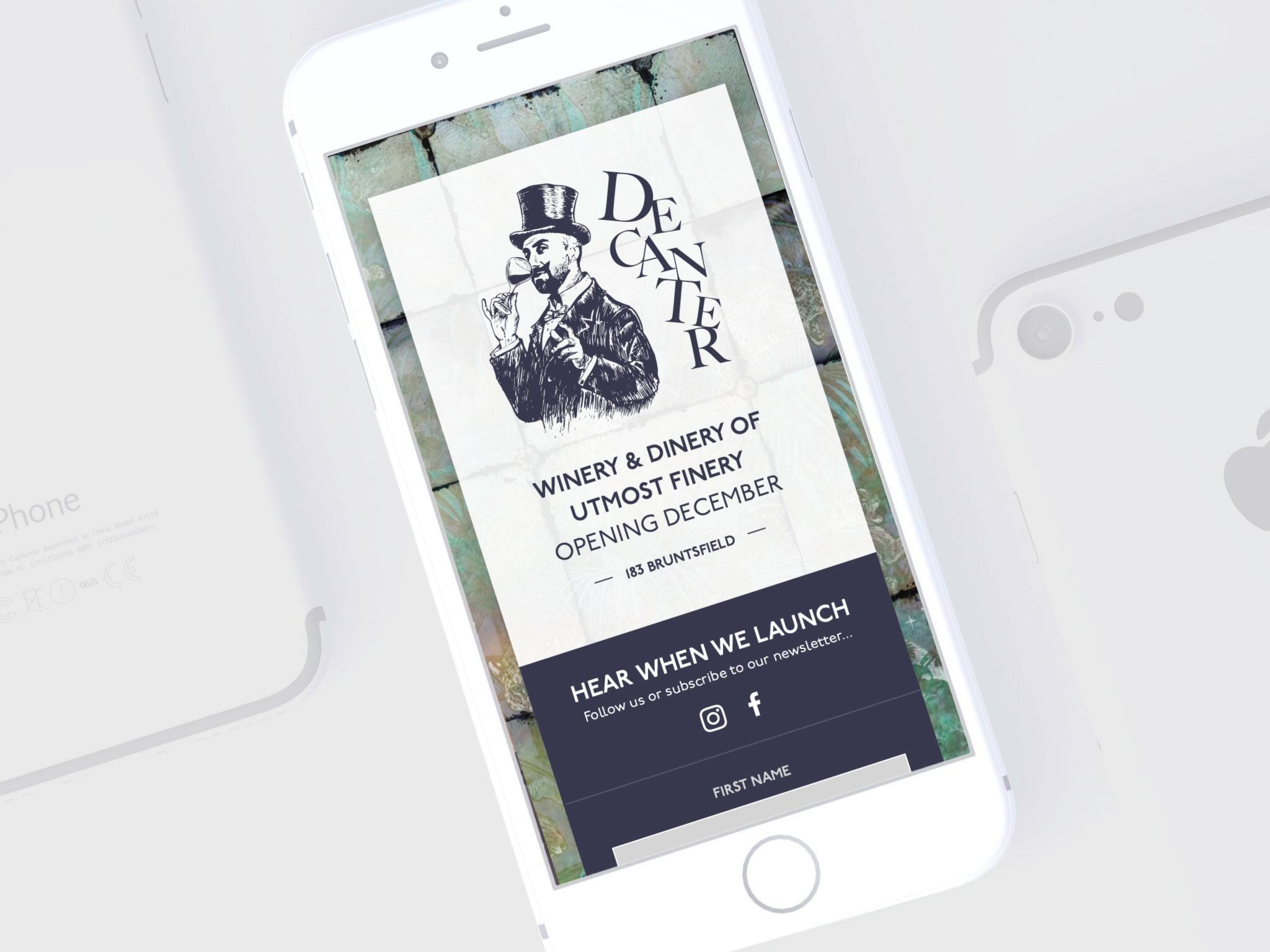Decanter Bruntsfield mobile website