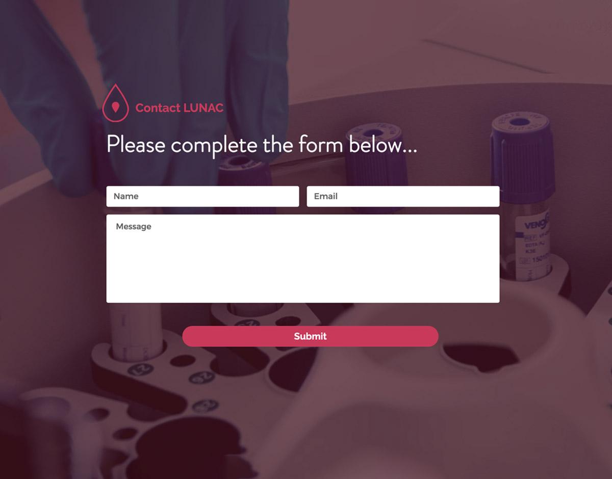 LUNAC Therapeutics contact form