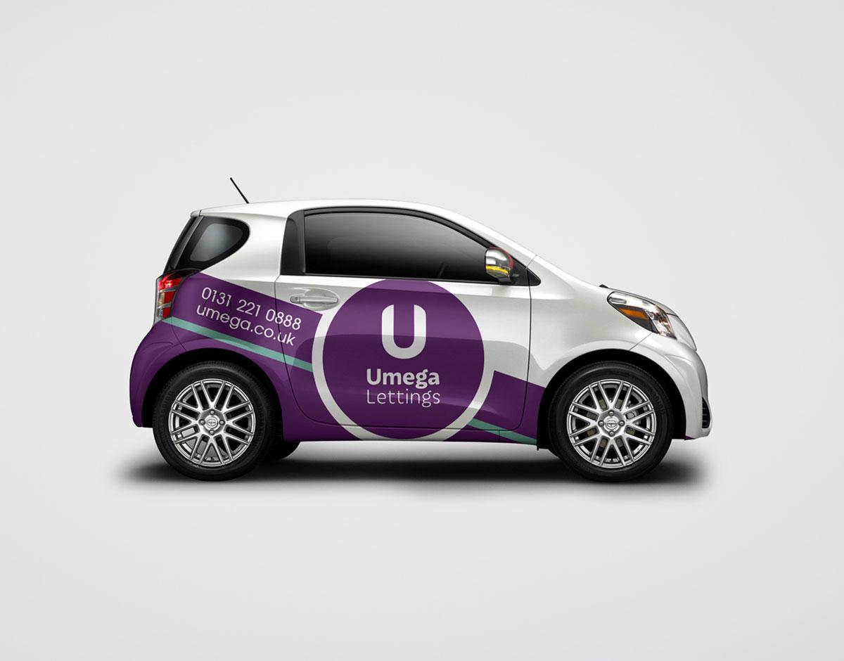 Umega lettings vehicle livery